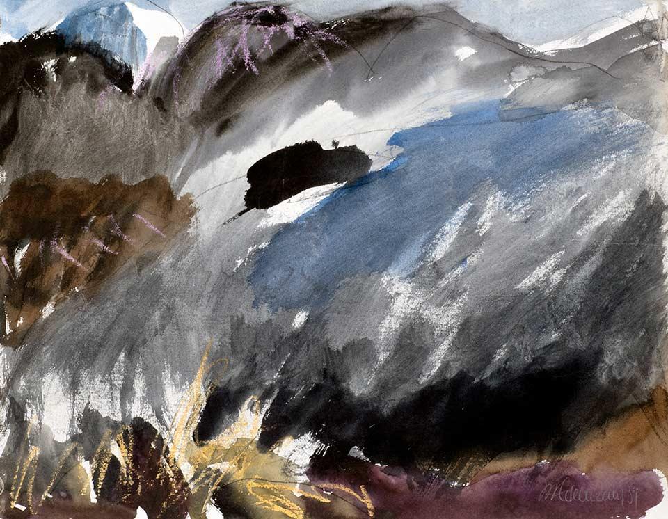 walchensee, aquarell von michael edelmann