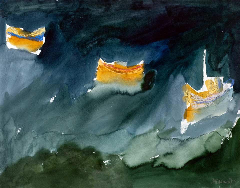 kreta fischerboote, aquarell von michael edelmann