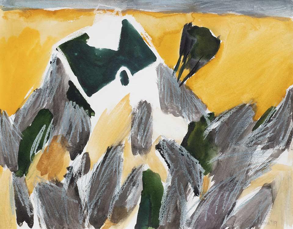 kreta kleine kapelle, aquarell von michael edelmann