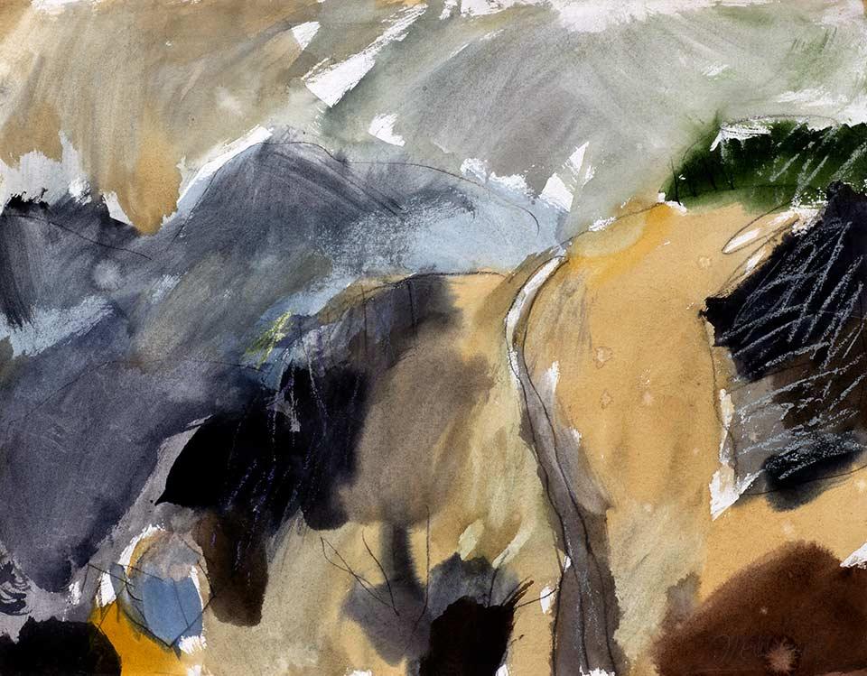 rhönlandschaft, aquarell von michael edelmann