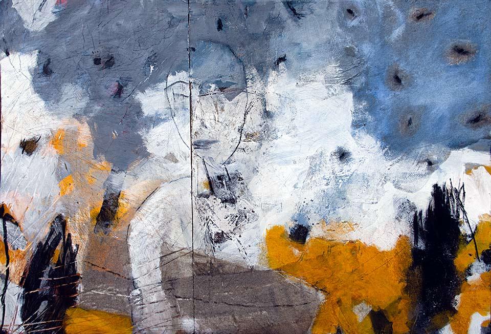 Michael Edelmann, Unterwegs tempera bild