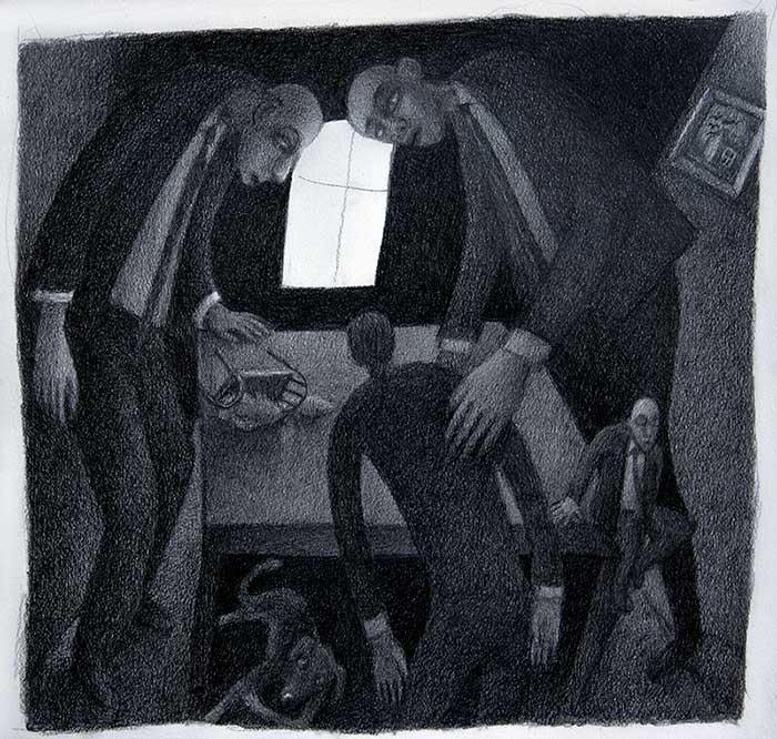 gut gemeint - Bleistiftzeichnung von Michael Edelmann